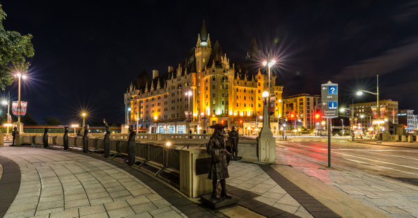 Confederation Square and the Chateau Laurier by Luc Jean