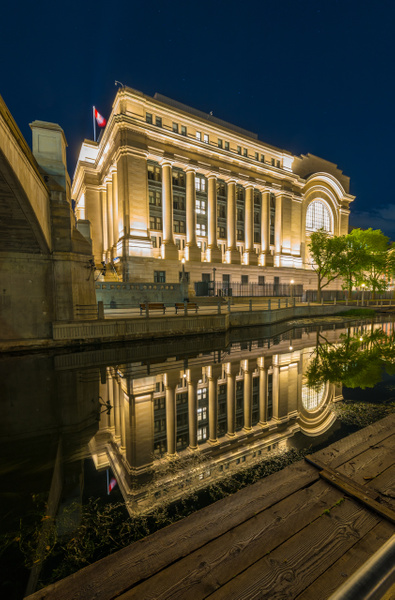Reflection on rideau canal 2 by Luc Jean