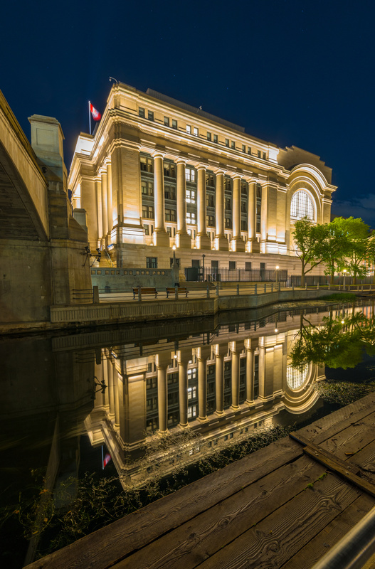 Reflection on rideau canal 2