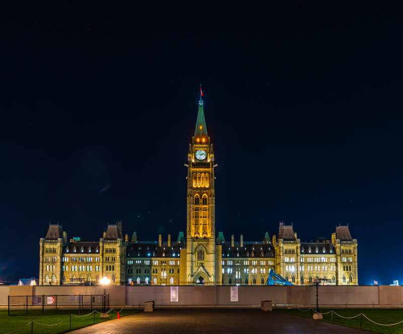 Canadian Parliament under construction