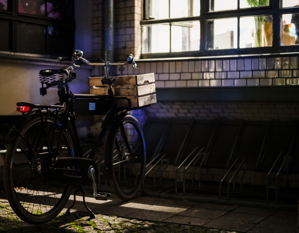 bicycle at night - Berlin - Andreas Maier Photography