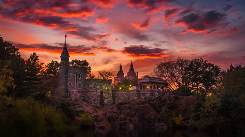 Belvedere Castle at Sunset