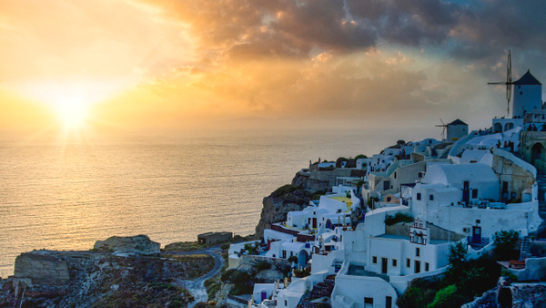 Sunset in Oia, Santorini - Landscapes & Cityscapes - Arian Shkaki Photography