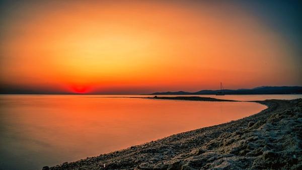 Long exposure sunset by Arian Shkaki