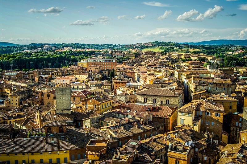 Rooftops of Siena, Tuscany