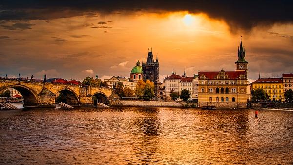 Golden Prague by Arian Shkaki