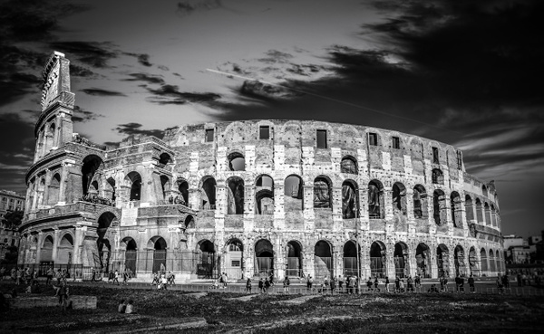 The Colosseum in BW - Black and White - Arian Shkaki Photography