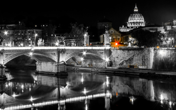 A view towards St. Peter's Basilica, The Vatican, Rome...