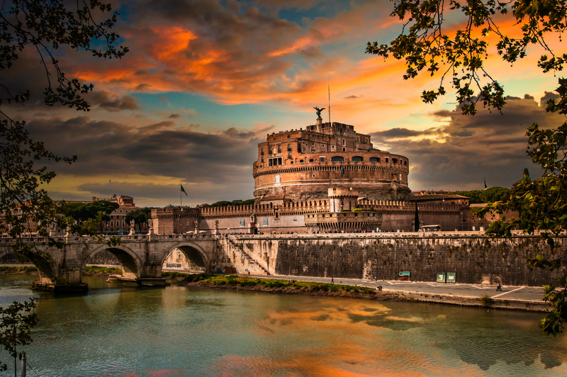 Sunset over Castel Sant'Angelo