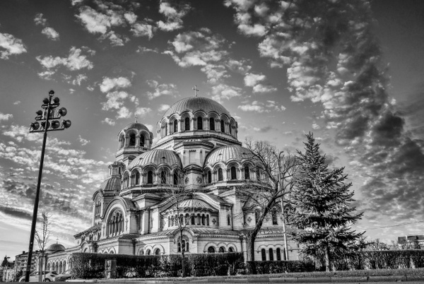 St. Alexander Nevsky Cathedral in Sofia - Black and White - Arian Shkaki Photography