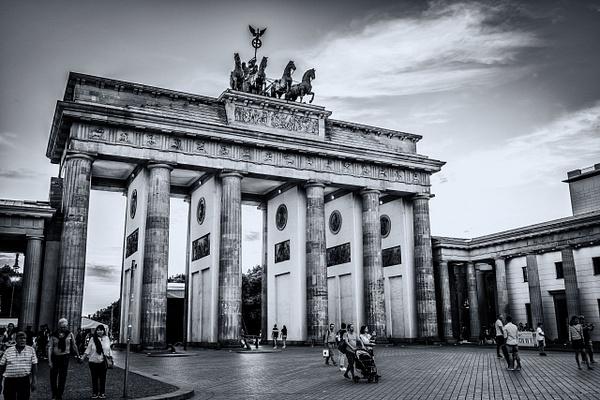 Brandenburg Gate, Berlin - Black and White - Arian Shkaki Photography