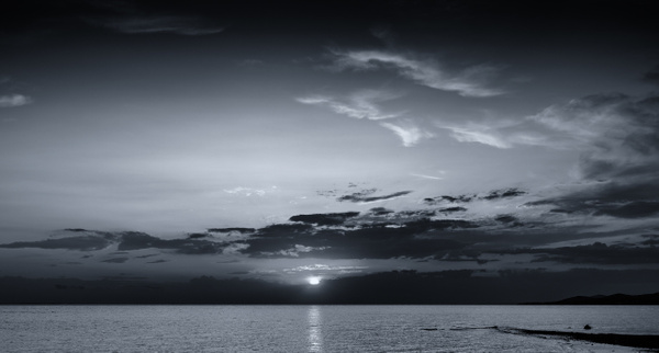 Black and White Sunset - Black and White - Arian Shkaki Photography