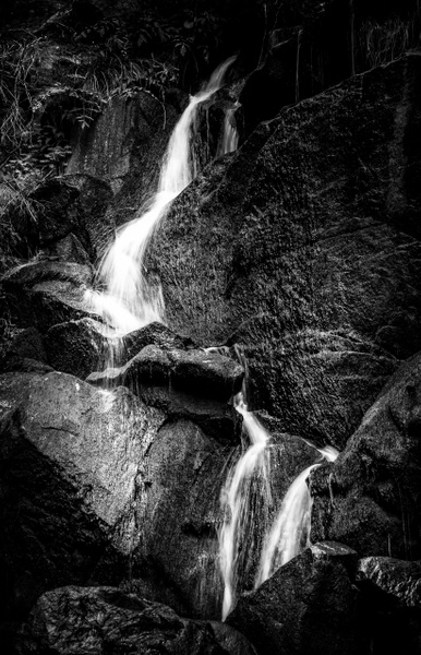 Waterfall - Black and White - Arian Shkaki Photography