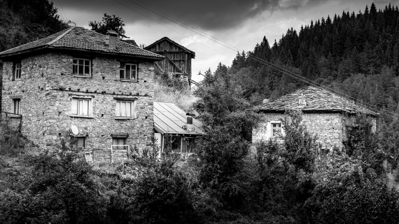 Rhodope Mountains and the abandoned houses