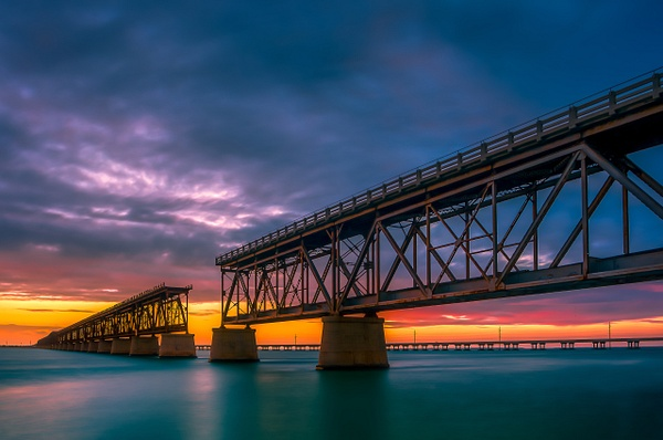 Railroad Bridge - Key West, Florida - Bill Frische Photography