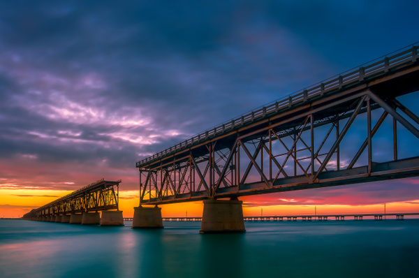 Railroad Bridge - Key West - Bill Frische Photography