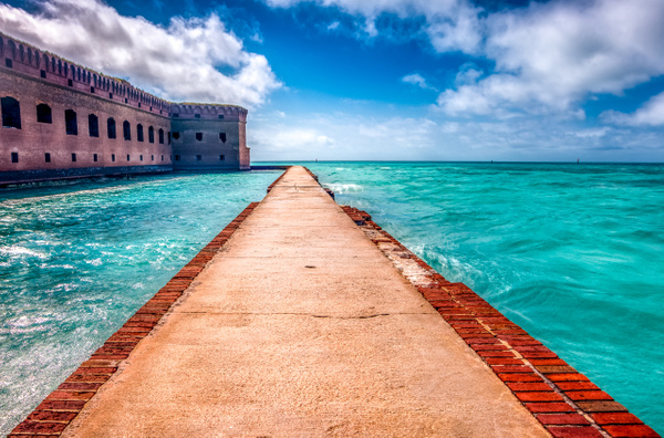 Outside Moat at Fort Jefferson - Key West, Florida - Bill Frische Photography