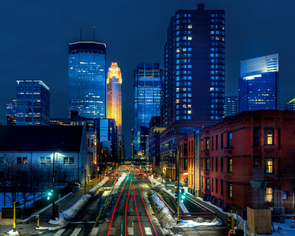 Downtown Minneapolis Minnesota at Dusk - Minneapolis and Minnesota - Bill Frische Photography