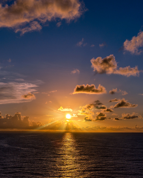 Sunset from the water looking towards Key West - Key West, Florida - Bill Frische Photography
