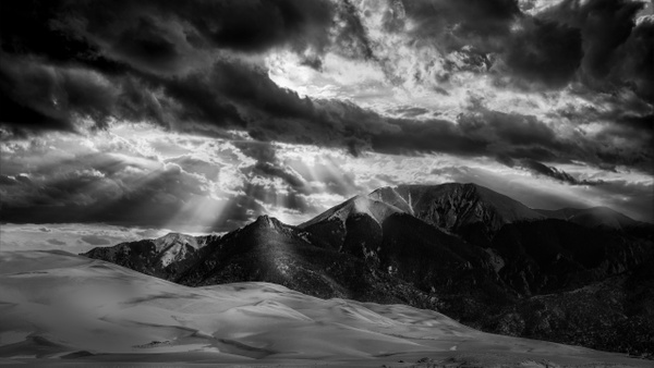 Dramatic Sky in the Great Sand Dunes National Park - Colorado - Bill Frische