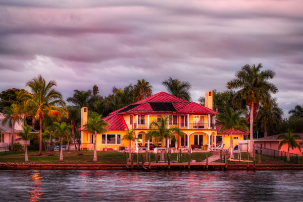 House in Cape Coral at Sunset - Key West, Florida - Bill Frische Photography