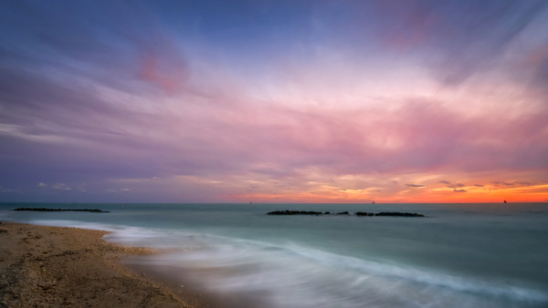 Key West - Fort Zachery Beach Sunset - Key West, Florida - Bill Frische Photography