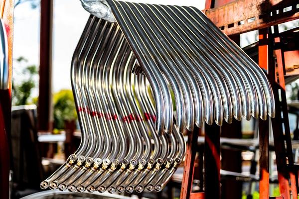 SS custom bent rails - Industrial - Jim Krueger Photography
