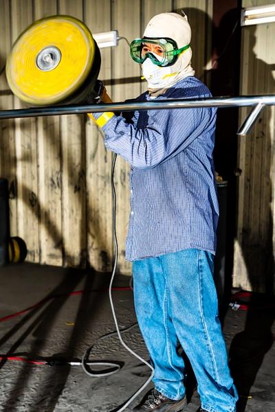 SS rail  polishing - Industrial - Jim Krueger Photography