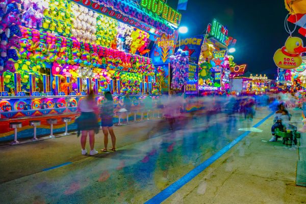 At the Midway - Night Photography - Jim Krueger Photography