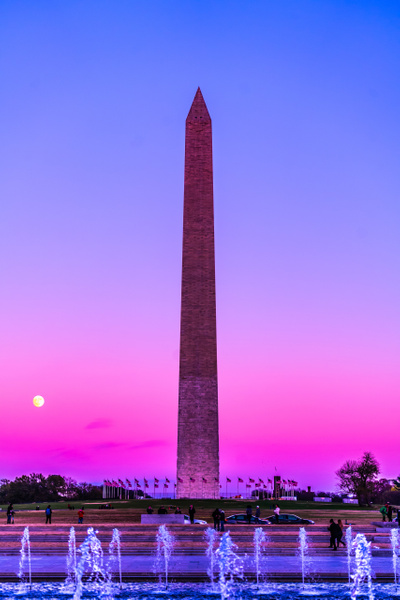 Washington Momument - Night Photography - Jim Krueger Photography