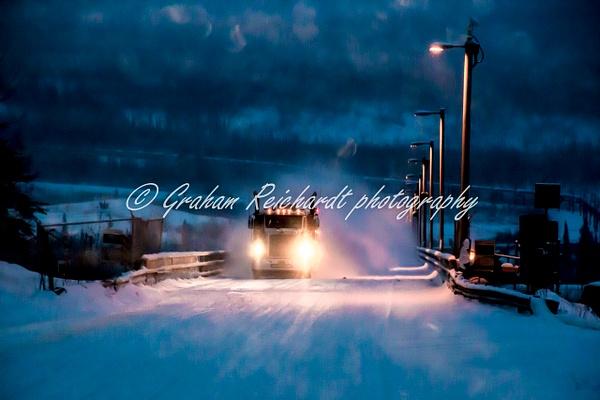 Yukon River bridge Dalton Highway Alaska 11-18-1 - Alaskan Scenery - Graham Reichardt Photography