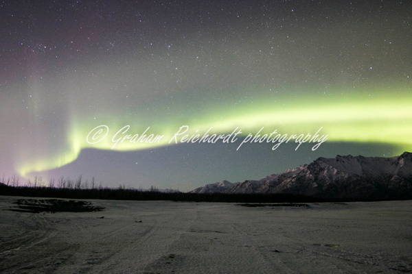 3- Aurora Borealis or Northern Lights taken in Knik River valley Anchorage - Aurora - Graham Reichardt Photography