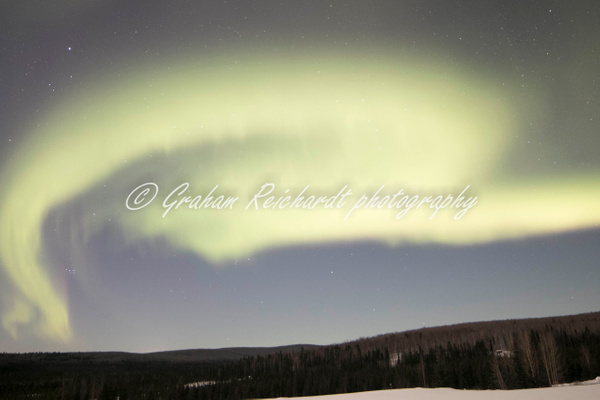 1- Aurora Borealis or Northern Lights taken at Chandlers farm, out from Fairbanks - Aurora - Graham Reichardt Photography