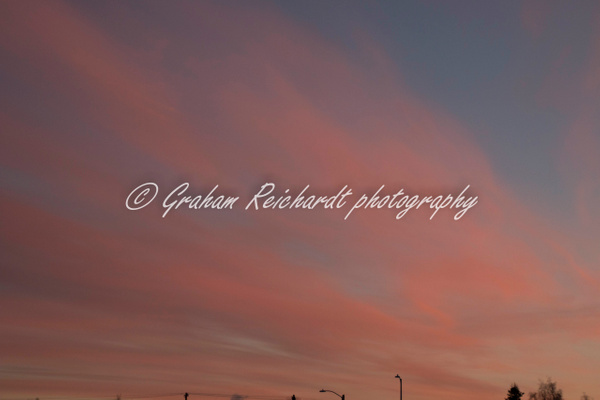 Sunset Anchorage Alaska 18-11-18 (2) - Sunsets - Graham Reichardt Photography