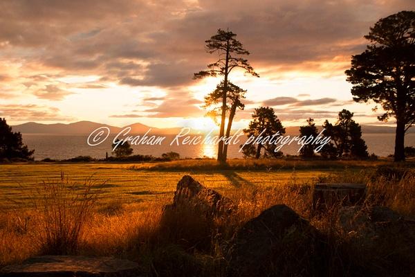 Sunset over Lake Taupo 4 - Sunsets - Graham Reichardt Photography