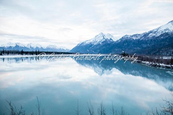 mountain reflction Anchorage Alaska 11-18-1 - Alaskan Scenery - Graham Reichardt Photography