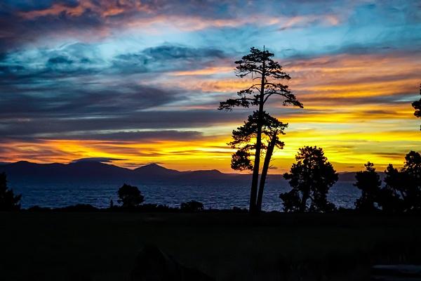 sunset over Lake Taupo 3 - Sunsets - Graham Reichardt Photography