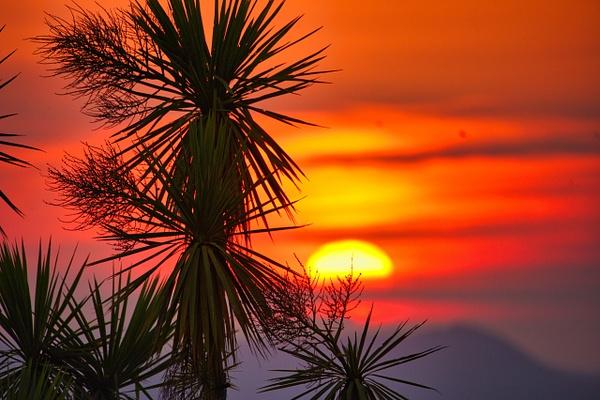 sunset over Lake Taupo 1 - Sunsets - Graham Reichardt Photography