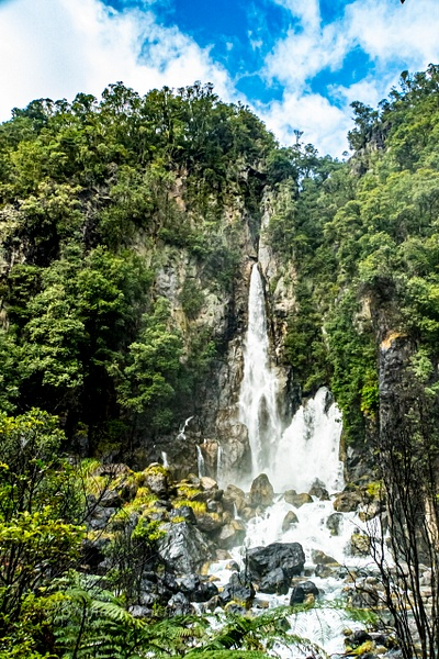 Tarawera Falls 1 - NZ Scenery - Graham Reichardt Photography
