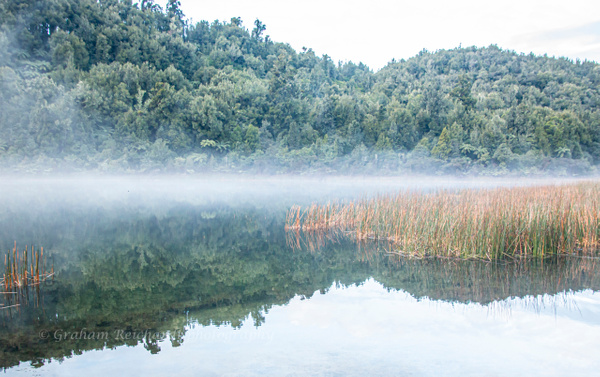 Mist on Lake Rotoma - NZ Scenery - Graham Reichardt Photography