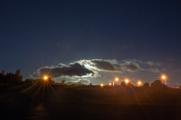 Lights on road to Airport Taupo NZ - Night Sky - Graham Reichardt Photography