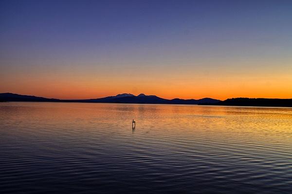 Sunset on lake Taupo 2 - Sunsets - Graham Reichardt Photography