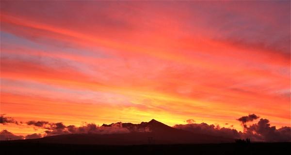 sunset over Ruapehu - Sunsets - Graham Reichardt Photography