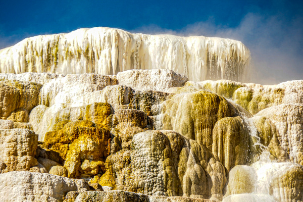 Mammoth hot Springs Yellowstone Park on canvas A4 size $55 - Shops - Graham Reichardt Photography