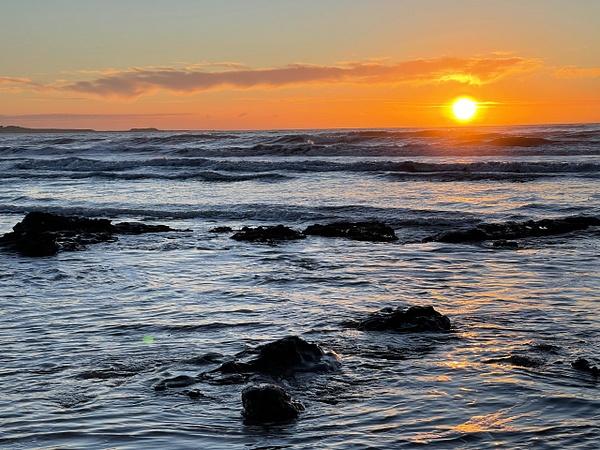 Sunset at Waihau Bay NZ - NZ Scenery - Graham Reichardt Photography