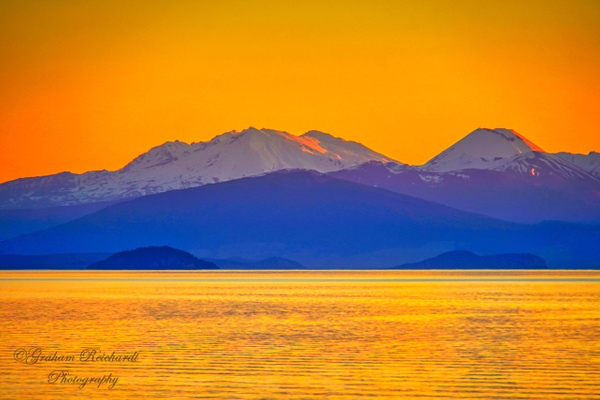 Lake Taupo and Tongariro national parkabstract (1 of 1) - NZ Scenery - Graham Reichardt Photography