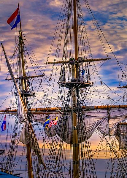 Kalmar Nyckel 17th Century Ship by Bill Hunter