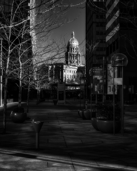 Downtown Monochrome - Colorado - Korey Shumway Photography