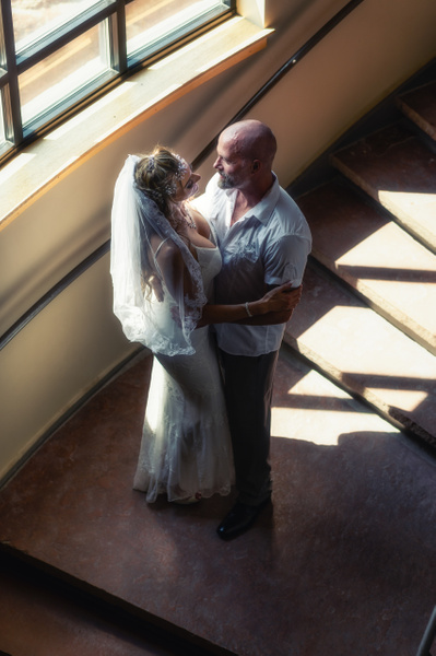 Embrace on the Stairs - Portraiture - Korey Shumway Photography