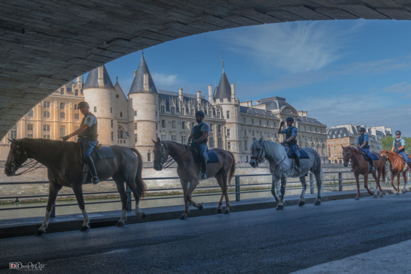 Mounted police in Paris